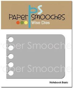 Troquel Notebook Basic - Troqueles Paper Smooches | Up & Scrap Tu tienda de Scrapbooking