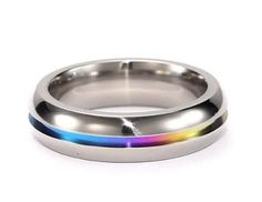 Pride-Shack-Rainbow-Anodized-Plain-Ring-LGBT-Lesbian-Gay-Pride-Ring-Steel