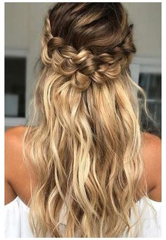 Hairstyles for Long Thin Hair, Easy Ideas for Long Fine Hair images of hair styles for fine hair - Hair Style Image Loose Curls Hairstyles, Easy Hairstyles For Long Hair, Braided Hairstyles For Wedding, Box Braids Hairstyles, Curly Braids, Bridal Hairstyles, Short Hairstyles, Fishtail Braids, Homecoming Hairstyles