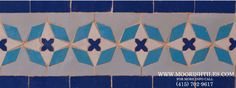 Moroccan Tile Portola Valley, CA Portola Valley, Border Tiles, Spanish Tile, Moroccan Tiles, Moorish, Terracotta, Swatch, Islam, Mosaic
