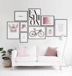Poster of pink clouds for modern decor | Trendy prints online