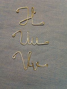Wire Art Alphabet T-V