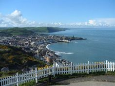 Aberystwyth from Constitution Hill  [note - sat here in glorious sunshine, 16 April, 2015]