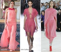 Paris Fashion Week Spring 2017 Fashion Trends: Pink Dresses  #trends #runway #fashiontrends