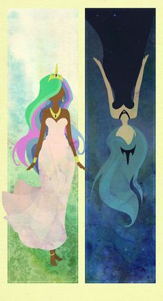 two princesses by boxdrink. celestia and luna~! i love this.