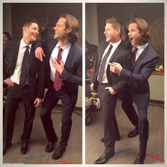 This is what happens when you tell Jared and Jensen to pose like catalogue models