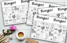 🦊 Walentynkowe szablony - Bingo!, gra memory, zakładki | #bingo #memory #zabawa #obrazki #ilustracje #kolorowanka #kolorowanki #chytrasztuka #coloringpage #freebie #template #dopobrania #szablon #dzieci #dladzieci #kolorowanie #plastyka Bingo, Bullet Journal, Instagram