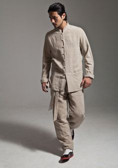 Grey Cotton Linen Kung Fu Tai Chi Suit Uniform http://www.interactchina.com/tailor-shop/