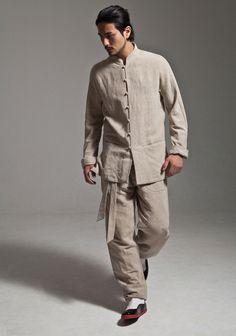 Grey Cotton Linen Kung Fu Tai Chi Suit Uniform http://www.interactchina.com/servlet/the-Tailor-Shop/Categories#.U3QUPYGSzeh