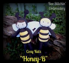 Cozy Kids Bee Girl Doll ITH embroidery design by BeeStitchin