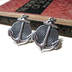 Anchors and Rope  Anchor on Antiqued Silver by nitelilyglamour, $25.00