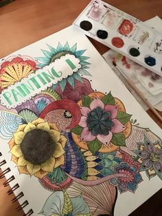 This drawing was for the first page pf my painting sketch book. I started by sketching out the zentangle with pencil, then I painted it with watercolor, and lastly I went over the lines with black ink.
