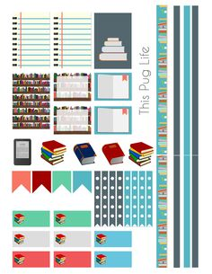 Free Printable Library Book Planner Sticket Set to celebrate Banned Books Week!