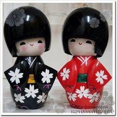 Японские деревянные куклы Кокэси (кокеши, Kokeshi, 小芥子 или こけし)