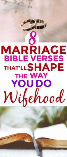 Totally LOVED these 8 Marriage Bible verses that will SHAPE the way any wife does WIFEHOOD! I'm SO glad I even found this! ALL wives in the world NEED this! Marriage with our beautiful Lord Jesus is THE BEST! #Christianmarriage   Christian marriage #marriage #wifehood #marriagegoals