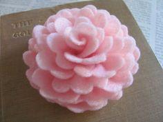Felt Rose Pattern VIOLETTE ROSE Felt Flower by SewYouCanToo