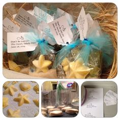 Beach Glass candy + Chocolate shells for favors