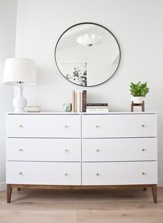 How to turn a simple Ikea dresser into a mid-century beauty! A simple Ikea hack!