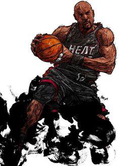 #Yellowmenace: NBA LEGENDS by KIM MINSUK (김민석) - Alonzo Mourning  *See More Minsuk Basketball Art HERE - NBA Season 2014-15> http://yellowmenace8.blogspot.com/2015/04/art-minsuk-kim-nba-2014-15-season-in.html Korean Basketball> http://yellowmenace8.blogspot.com/2015/05/art-korean-basketball-illustrated-by.html