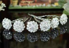 Bridal Flower Swarovski Crystal Hair Pins