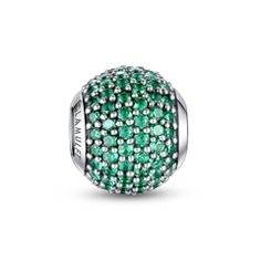 ed6e21ba9 May Birthstone-Emerald green paved crystal charm. Pandora Bracelet  CharmsPandora RingsPandora JewelryCharm BraceletsMens Sterling Silver  Necklace925 ...