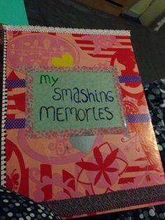 Kaft van mijn smashbook/art journal