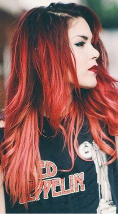 Red hair, rock girl!!