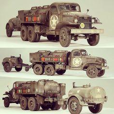 """""""GMC CCKW 750 gallon tanker"""" 1/35 HobbyBoss. Modeler Aleksandr Pedan #scalemodel #plastimodelismo #plasticmodel #miniatura #miniature #hobby #hobbyboss #plastickits #usinadoskits #udk #tanker #truck #caminhao"""