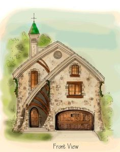 Fairy tale houses on pinterest storybook homes fairy for Fantasy house plans