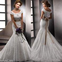New white/ivory Wedding dress Bridal Gown custom size 2-4-6-8-10-12-14-16-18-20+