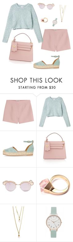 """""""Sans titre #346"""" by girly-1d-girl ❤ liked on Polyvore featuring Valentino, Monki, River Island, Le Specs, Gucci, ASOS and Olivia Burton"""
