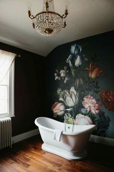 Old world glam rustic bathroom