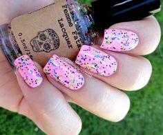 Colorful Glitter - nail polish