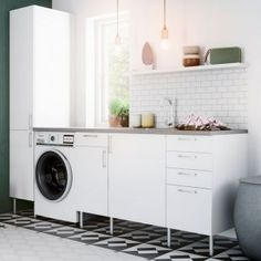 Linn Bad - Baderom frå Vik i Sogn Washing Machine, Laundry Room, Home Appliances, House Design, Interior Design, Grande, Laundry, House Appliances, Design Interiors