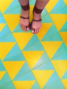 Beachwood Cafe Patterned Tile, Re-imagined