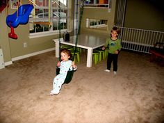How to: Hang a swing or trapeze in your home...therapy room