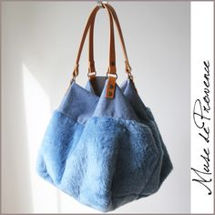 Tote in fake fur by Muse de Provence. Made in France.