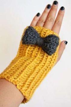 Yarım parmak sarı eldiven örneği