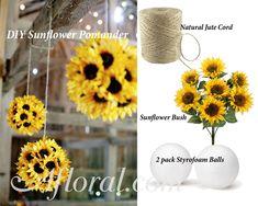 DIY Sunflower Pomander