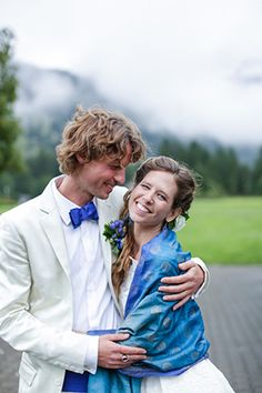 something blue wedding ceremony for a switzerland destination wedding with rustic touches. Photos by http://jennysmithandco.com/ || Seen on http://www.jetfeteblog.com/destination-weddings/wedding-switzerland-yellow-wedding