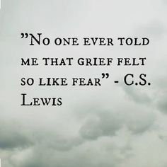 thought provoking, but you can feel both grief AND fear simultaneously, for valid, different, correlated reasons.