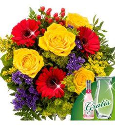 Mix Blumen Arragements von gelben, roten Blüten