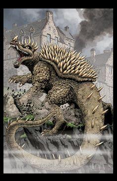 GODZILLA issue 2 cover ANGUIRUS! by Zornow.deviantart.com on @deviantART