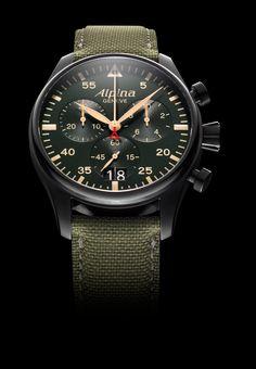Alpina Pilot Chrono #mode #homme #montre #chronographe #alpina #geneve #fashion #mensfashion #pilot #watch #chronograph