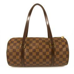 26d10a4b00f1 Louis Vuitton Damier Ebene Papillion monogram bag barrel handbag Orange  Leather