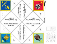 Cub Scout Fortune Teller Print out