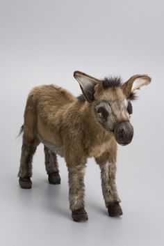 the hansa donkey is hand crafted of realistic plush. $80.  the coat is meticulously cut by hand, never stamped out by...