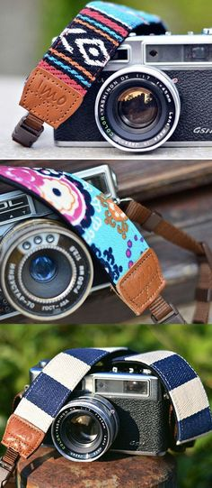 Put some personality in your camera with iMo, the retro camera strap. #Cameras