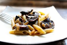 Thank You Pioneer Woman. Because Mushrooms are God's Gift to ME! Pasta with Whiskey, Wine, and Mushrooms