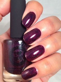 Valiantly Varnished: ILNP Black Orchid Swatch & Review